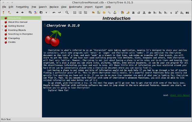 cherrytree main window 27 Сервисов По Анализу Сайтов конкурентов